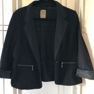 Xl Navy Blue stretch cotton blazer.EUC